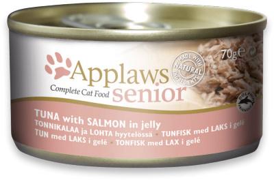 Applaws Blik Senior Cat - Tonijn met Zalm in gelei