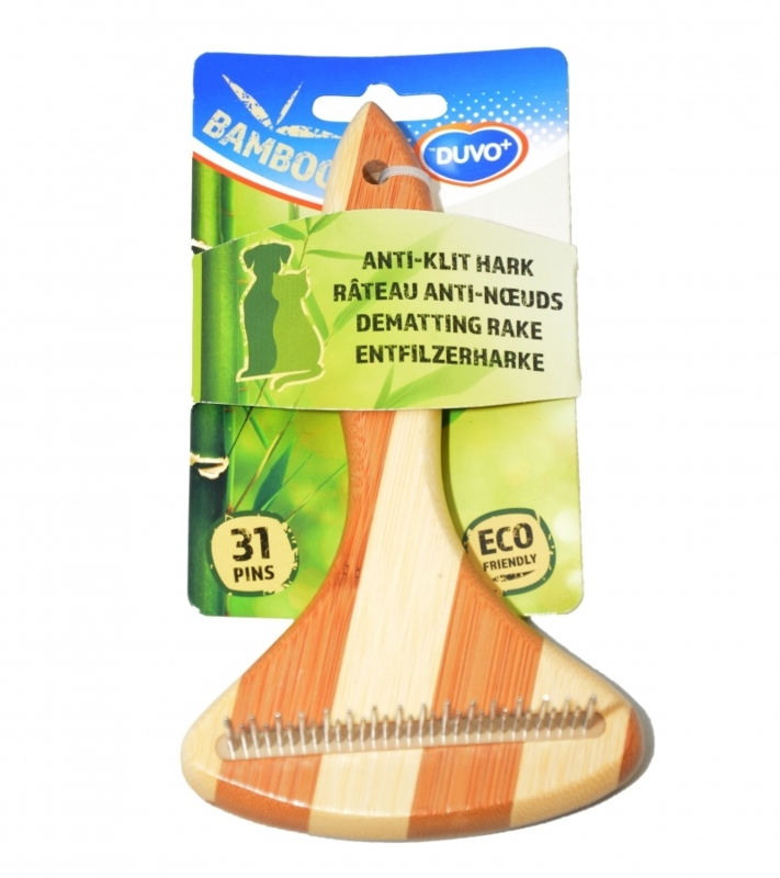 Duvo Bamboo Anti Klit Hark 31 pinnen