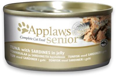Applaws Blik Senior Cat - Tonijn met Sardine in gelei