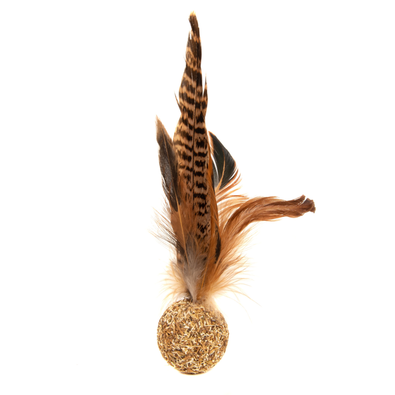 Pheasant Feather Silver Vine Ball
