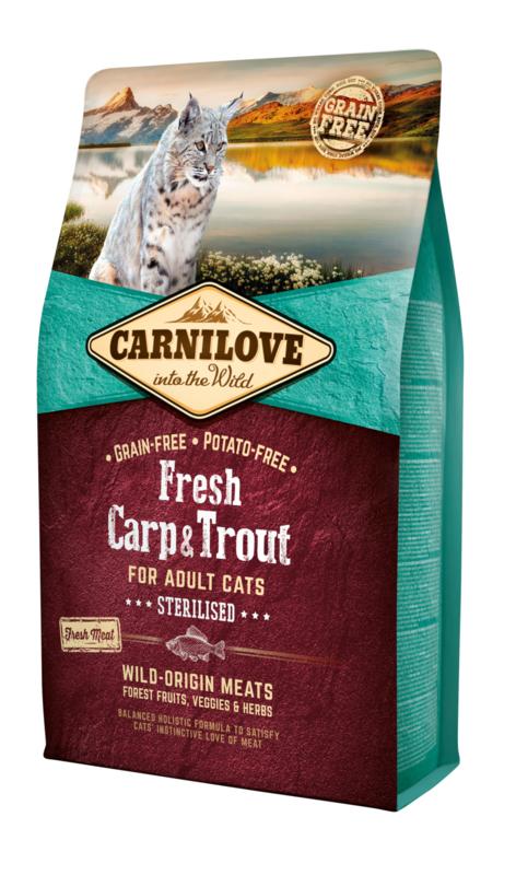 Carnilove Fresh kattenbrok Karper en Forel