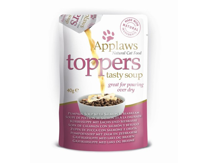 Applaws Toppers tasty Zalmsoep met Zeebrasem