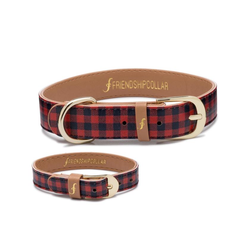 Friendshipcollar The Hipster Pup halsband met bijpassende riem