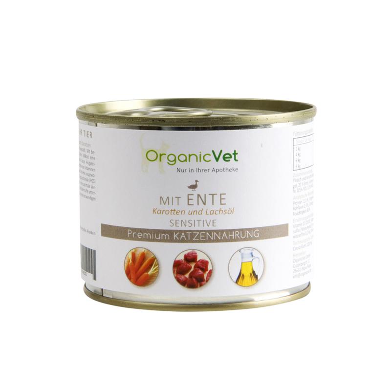 OrganicVet Sensitive Eend met wortel en zalmolie