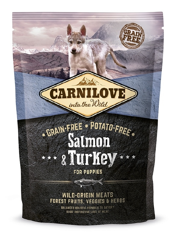Carnilove Zalm en Kalkoen Puppy 1,5 kilo