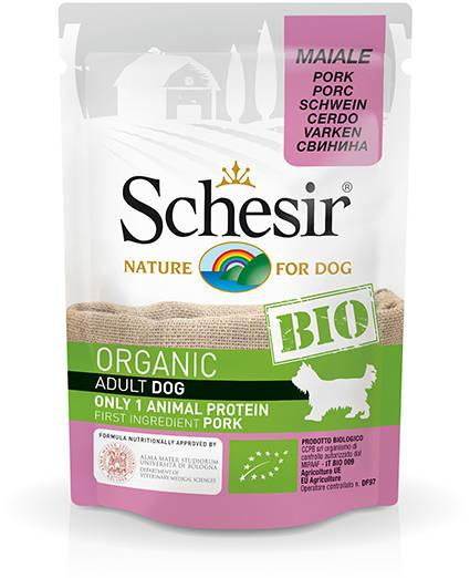 Schesir Hond BIO Adult - varken zakje 85 gram