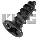 Plaatschroef verzonken kop staal zwart - 1,4 x 4 mm