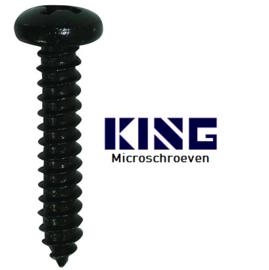 Plaatschroef  staal zwart - 1 x 3 mm