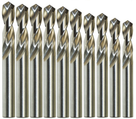 Metaalboorset HSS geslepen - 1,1 t/m 2,0 mm - Set van 10
