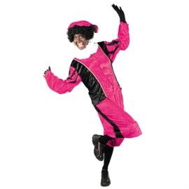 Piet velours roze/zwart XL (010-053)