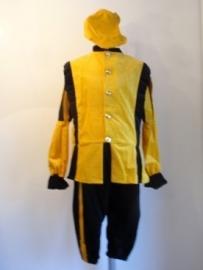 Zwarte piet kostuum zw-geel maat 50 / M herenmaat (DKW 010-047)