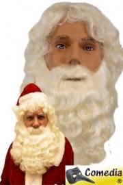 Baard / pruikstel kanekalon kerstman (DKW 024-015)