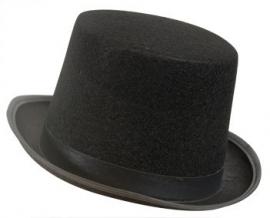 Hoge hoed zwart vilt (DKW 014-158)