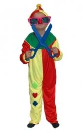 Clownskostuum maat 128 - 140 OP=OP (DKE 013-070)