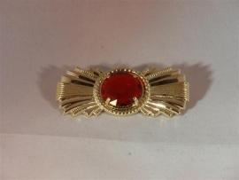 Baretspeld lang met rode steen (DKM 012-33)