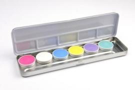 Aqua-schminkpalet 6 pastelkleuren (DKW 003-630)