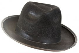 Gangster / Bluesbrother hoed vilt zwart (DKW 014-161)