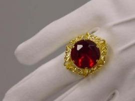 Sint ring met versiering goud (DKM 009-21)