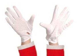 Handschoenen wit kort budget maat L (DKW 009-13)