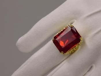 Sint ring rechthoekig goud (DKM 009-20)