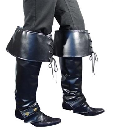 Beenkappen zwart met veters (DKW 024-013)