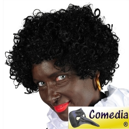 Pruik Zwarte Piet Luxe Black Jack (DKW 011-12)