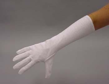 Handschoenen wit katoen 40 cm (DKM 009-15)
