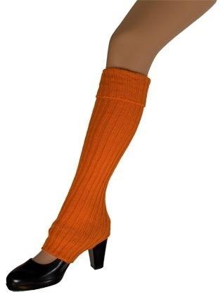 Beenwarmers met gat Fluor Oranje (DKW 025-006)