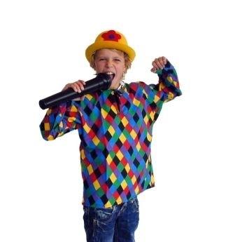 Kinderkiel Clown maat 116 OP=OP (DKE 013-168)