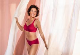 Anita Lisa Prothese BH zonder beugel in de kleur Granat Red