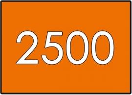 2500 X A7 7.4x10.5cm dubbelzijdig full colour 135gr.