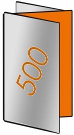 500 X Din Lang 9.8 x 21cm zigzagvouw 6-zijdig 100gr.