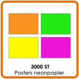 3000 X A3 (42 x 29.7cm) Posters neonpapier