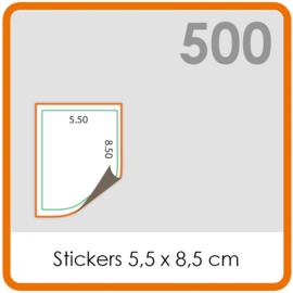 Stickers op rol - Stickers 5,5 x 8,5 cm  - 500 stk.