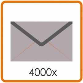 4000 X Enveloppen EA5/6 11 X 22cm enkelzijdig full colour