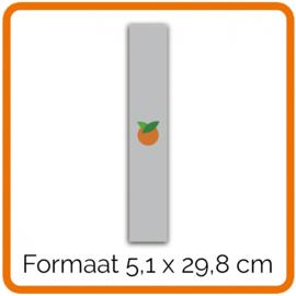 Outdoor Premium stickers, Formaat 5,1 x 29,8 cm    , full colour, enkelzijdig bedrukt