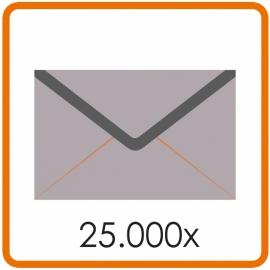 25.000 X Envelop C5 16.2X22.9cm enkelzijdig full colour