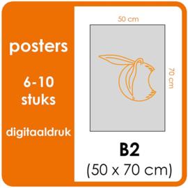 B2 Posters - prijsgroep voor 6 t/m 10 stuks. Print Formaat: 500mm x 700mm. Posterpapier: PrimeArt Semi-Gloss 200 gm² (Prijs Per stuk)
