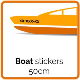 Boat Stickers -  2 stickers 50 cm Width