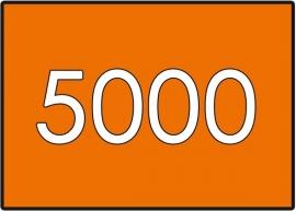 5000 X A7 7.4x10.5cm dubbelzijdig full colour 135gr.