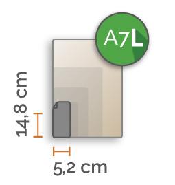 Outdoor Premium stickers, A7 LANG ( 5.2x14.8 cm) , full colour, enkelzijdig bedrukt
