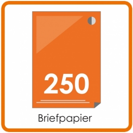 250 X A4 Briefpapier 29.7x21cm enkelzijdig full colour Digital