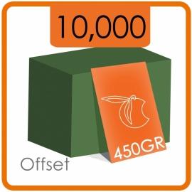 10000 Visitekaartjes - 450gr -enkelzijdig full colour met dispersielak
