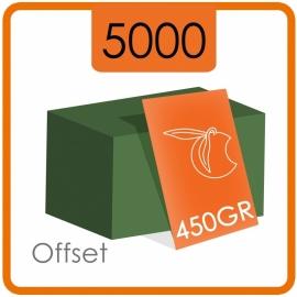 5000 Visitekaartjes - 450gr. - dubbelzijdig full colour met dispersielak