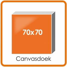 Canvasdoek mat houten frame 70 X 70 cm.