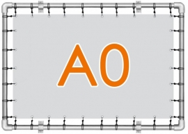 Banner spandoek A0 - 84,0 cm x 118,8 cm - 4/0 enkelzijdig full colour