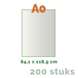 Posters Grote oplage - A0 84 x 118,8 cm - 4/0 enkelzijdig full colour - 170 grams - 200 stuks