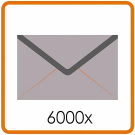 6000 X Enveloppen EA5/6 11 X 22cm enkelzijdig full colour