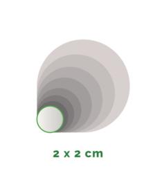 Stickers outdoor - rond doorsnede 2 cm - 4/0 kleurig  - min. 100 stuks - Levertijd: 1 werkdag