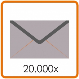 20.000 X Envelop C5 16.2X22.9cm enkelzijdig full colour